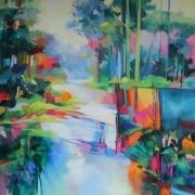 Bunya Riverside oil on canvas 1000mm x 1000mm