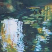 Deep Ripple oil on canvas 605mm x 605mm