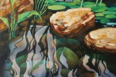 Pond reflections - oil on linen 605mm x 605mm