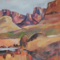 Drakensberg Mountains - oil on canvas 1000mm x 700mm