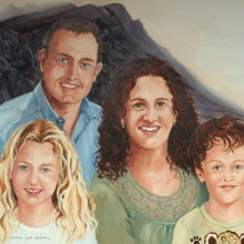 Family Portrait oil on canvas