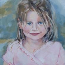 Kayla - oil on canvas 255mm x 205mm