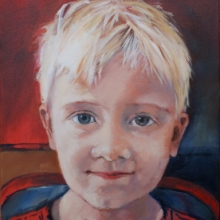 Ethan - oil on canvas 255mm x 205mm