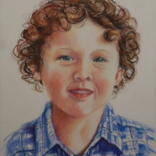 Portrait of a boy - 380mm x 300mm Pastel on Canson Suede