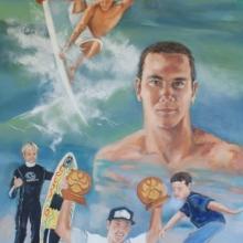 Jordy Smith - oil on canvas 1200mm x 915mm Jordy Smith - oil on canvas 1200mm x 915mm