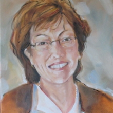 Margie Oil on canvas 505mm x 405mm