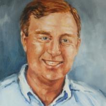 Portrait of Garth_oil oncanvas_carolleebeckx