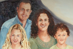 Family Portrait oil on canvas
