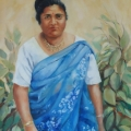 Rajesh's Mother - oil on canvas 765mm x 610mm