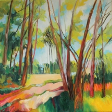 Light through the Trees - oil on canvas 510mm x 510mm