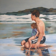 Craig and Jess at Mngazi -oil on canvas - 1010mm x 760mm