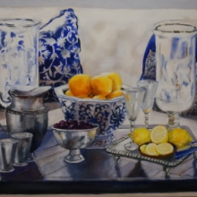 Still Life with Citrus - Oil on canvas600mm x 760mm SOLD