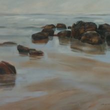 Low Tide II - Oil on canvas 915mm x 1225mm