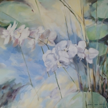 Orchids at the Pond - Oil on canvas 610mm x 760mm SOLD