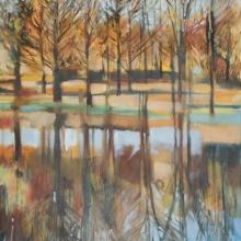 Hazeldene Reflections - oli on canvas - 580mm x 780mm