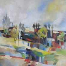Landscape With Trees - oil on canvas - 755mm x 600mm