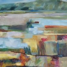 Langebaan Salt Marshes II - Oil on canvas 915mm x 610mm SOLD