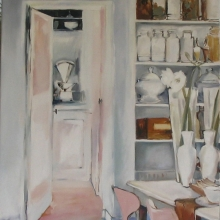 Pink Chairs - oil on canvas - 910mm x 600mm