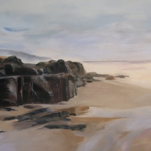 Pumula Rocks - Oil on canvas 1000mm x 1400mm SOLD