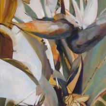 Strelitzia - oil on canvas - 765mm x 600mm