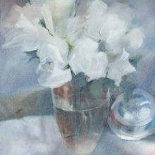 White Roses - oil on canvas - 505mm x 405mm