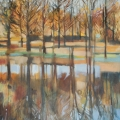 Hazeldene Reflections - oli on canvas - 580mm x 780mm