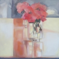 Roses and Reflections - oil on canvas - 510mm x 510mm