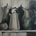 Silver Collection - oil on canvas - 350mm x 350mm