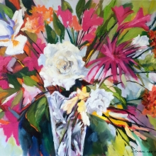 Cilla's Flowers_oil on canvas_carolleebeckx.com
