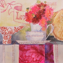 Love Dahlia watercolour on paper