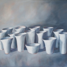 Cups II - Oil on canvas 610mm x 760mm