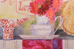 Love Dahlia watercolour on paper