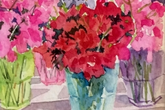 Sweet Peas - watercolour on paper