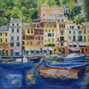 Portofino - oil on canvas 900mm x 900mm